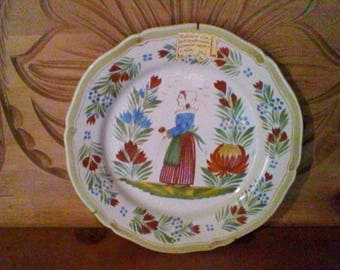 Breton Plate - Vintage French decorative wall plate