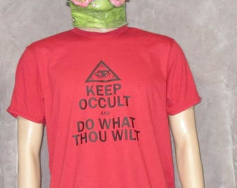 Do What Thou Wilt Crowley Thelema T-Shirt Vintage Red