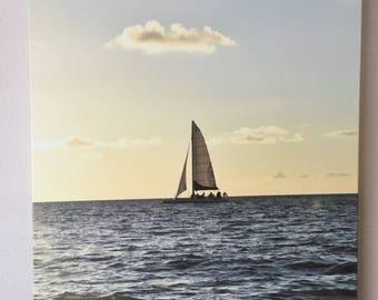 24x16 sailboat photo canvas
