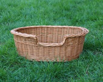 Dog Wicker Basket, Dog Bed, Pet Bed, Dog Basket, Pet Basket, Cat Bed, Cat Basket, Wicker Dog Bed, Dog Bed Large, Natural Dog Bed, Dog Basket