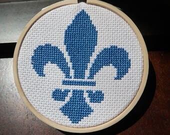 Fleur De Lis Cross Stitch