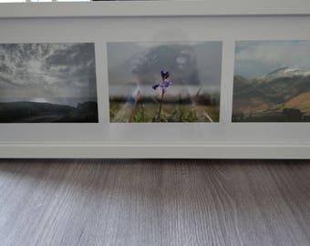 3 (7x5) aperture Lakeland Scenes white framed photographs