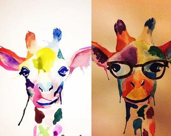 Custom Watercolours - Giraffe