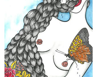 Kiss of the butterfly - limited edition fine art print of 25