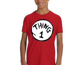 Thing 1, Thing 2 Youth Kids Shirts