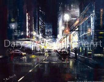 """Quality print oil painting """"CityscapeI"""""""