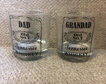 Dad or Grandad Jack Daniels glass