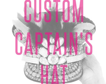 Custom Festival Captain's Hat - Made to order - FREE DOMESTIC SHIPPING!