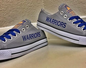 Golden State Warriors Grey Women's & Men's Canvas Tennis Shoes