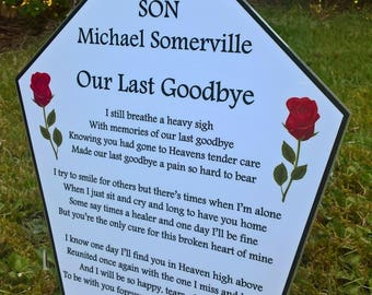 Personalised memorial grave plaque, Bereavement sympathy gift, Garden of Remembrance