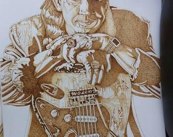 Stevie ray vaughan 11x14