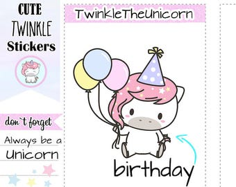 A037 | Birthday Cake Stickers Cake Planner Stickers Birthday Stickers Birthday Planner Stickers Day Designer Stickers Passion Planner