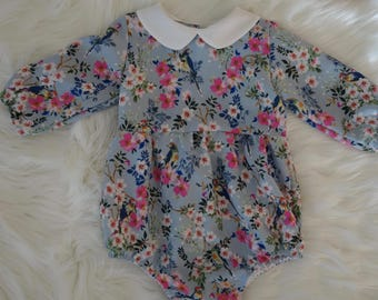 Long sleeved romper (made to order)