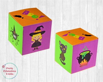 Witches Favor Box, Treat Box, DIY Gift Box, Printable PDF, Instant Download