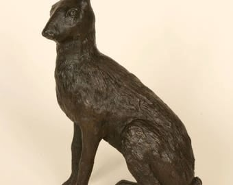 Small Hare Bronze Resin