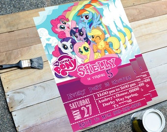 My Little Pony Invitation, My Little Pony Invite, My Little Pony Birthday, My Little Pony Party, LittlePony Party, Birthday Invitation