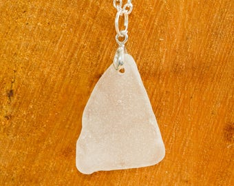 Triangular seaglass pendant