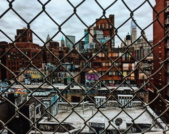 Graffiti from the Manhattan Bridge