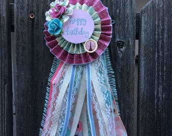 Custom Happy Birthday Ribbon -sold