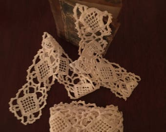Cotton Crocheted Lace - 3 Pieces