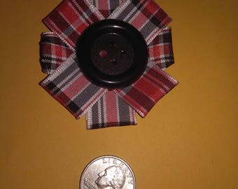 Plaid Ribbon Hair Clip