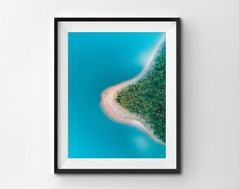 Australia from Above Photo Print, Trees Print, Lake Forest Print, Lake from Above Print, Nature Photography Print, Australia home decor