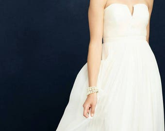 J Crew Wedding Dress Gown Cream White Bohemian Boho Beach Size 6