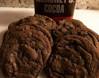 Dark Double Chocolate Chip Cookies
