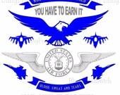 Retired Air Force Veteran SVG file