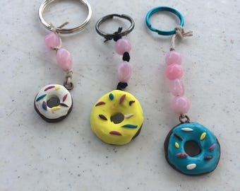 Donut Keychain With Sprinkles