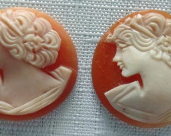 Lot of 27 Vintage Cameo Cabochons