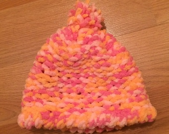 Peachy Pink Baby Hat