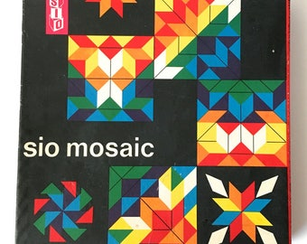 SIO Mosaic Wooden Parquetry Tiles Puzzle Game 40 piece Holland Vintage