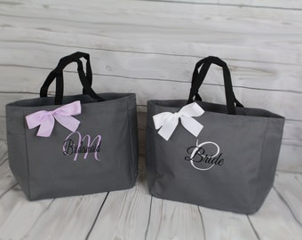 Personalized Bridesmaid Gift Tote Bags Personalized Tote, Bridesmaids Gift, Monogrammed Tote, Dance Team Gift, Cheer Bag, Sister Gift Tote