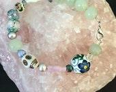 RESERVED for Sarah - Pastel Collage Bracelet