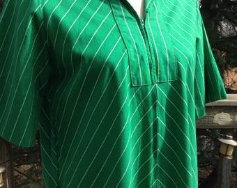 Vintage Green Chevron Model's Coat