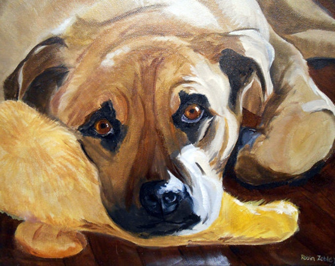 Original Pet Portrait Painting, Oils on Canvas, Your Dog from photos