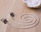 Rope chain silver napkin or serviette clips (s18)