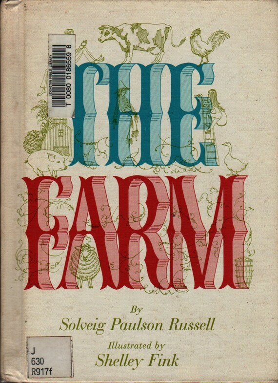 The Farm - Solveig Paulson Russell - Shelly Fink - 1970 - Vintage Kids Book