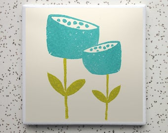 Blom Turquoise Tile Coaster