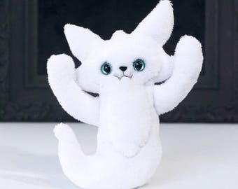 Mini Ghost Cat - A soft plush doll to blame all your troubles on