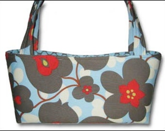 Handbag Tote Purse | Amy Butler Lotus Linen Morning Glory Polka Dot fabric | Ladies Accessory