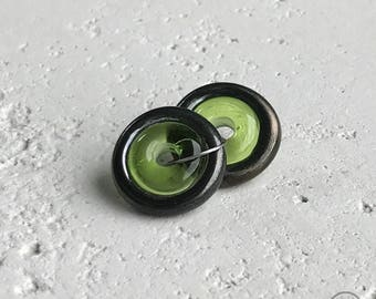 Bullseye - Bronze on Lime