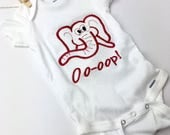 Last one ... Sorority Inspired embroidered Baby Girl Onesie, embroidered onepiece, baby undershirt, personalized onesie