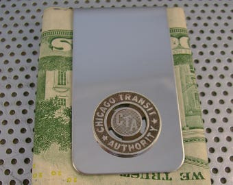 Vintage Authentic Chicago Transit Authority CTA Token Money Clip Man Gift, Wedding, Groomsman Gift, Fathers Day Gift