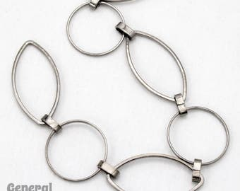 Gunmetal 23mm x 12mm Oval and 14.8mm Round Link Chain #CC235