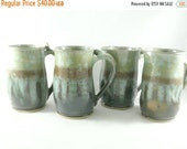 On Sale Today Big Green Pottery Mug, Green Teacup, Unique Coffee Mugs, Ceramic Cup, Large Pottery Coffee Mug, Ceramic Coffee Cup 20 ounce si