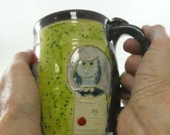Big Ceramic Mug, Pottery Mug, Teacup, pottery and ceramics, Beer Stein, Tankard, Clay Cup,  Unique Coffee Mugs, Large Size Mug, 709