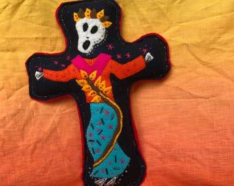 Skeleton Dance Rattle Doll Day of the Dead Calavara