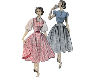 50s Circle Skirt pattern Full Skirt Dress pattern vintage 34-28-27 Jumper pattern blouse pattern advance 6166